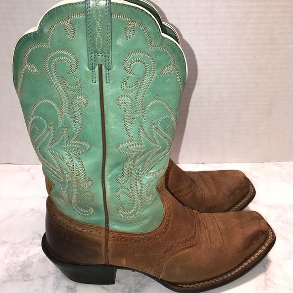 fd043fd48f9 Ariat Women's Teal Vintage Cowboy Boots Size 7.5